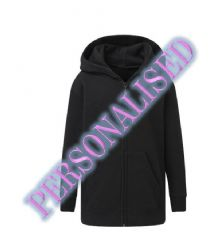 NRG KIDS UNISEX ZIP HOODIE WITH EMBROIDERED LOGO & PERSONALISED